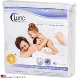 Black Friday Luna Premium Hypoallergenic Waterproof Mattress Protector - Queen Size - Made In The USA